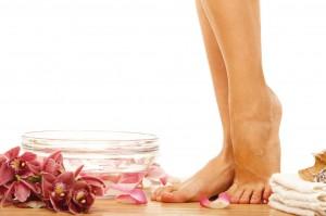 Terapia de pies, vitalidad y relajación