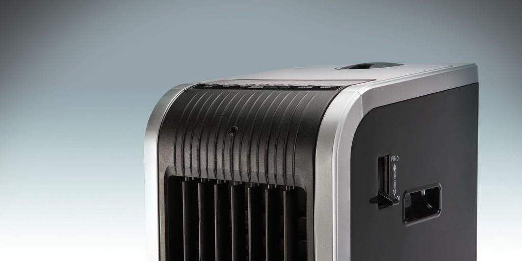 Detalle del climatizador digital